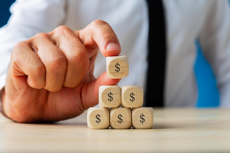 stacking money blocks